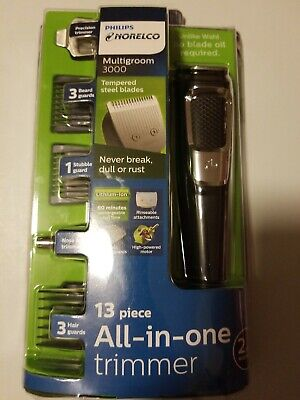 Philips Norelco Series 3000 Multigroom 13 Piece All in One Trimmer, MG3750/60