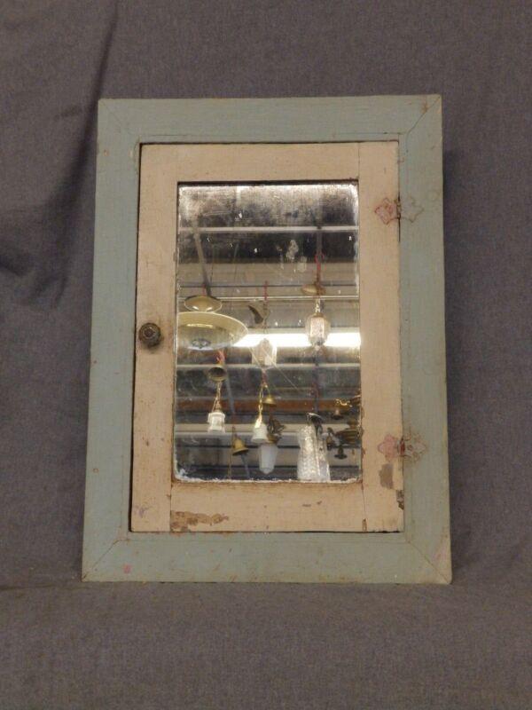 Antique Wood Recessed Medicine Cabinet Cupboard Old Vtg Bathroom 5296-15