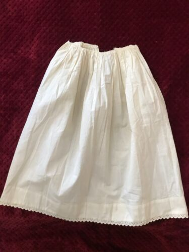ANTIQUE Layette - Victorian BABIES SKIRT with handmade embroidery