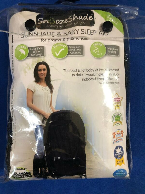 Snoozeshade Sunshade & Baby Sleep Aid For Strollers New In Package Black