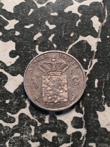 1900 Netherlands East Indies 1/10 Gulden (8 Available) (1 Coin Only) Silver!