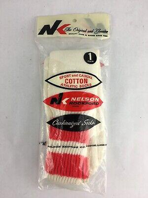 Custom Tube Socks - Vintage 80s Nelson Customized Athletic Tube Socks Striped Size 9-15 One Pair New