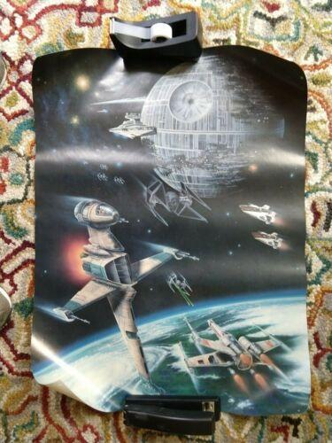 Vintage 1983 STAR WARS RETURN OF THE JEDI Exclusive Fan Club Poster 27 x 20