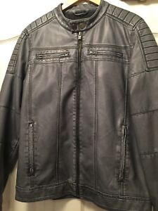 Men's lightweight leather looking jacket M - very like new