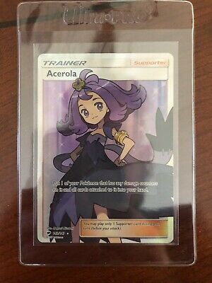 Pokemon TCG Acerola Full Art Trainer Burning Shadows