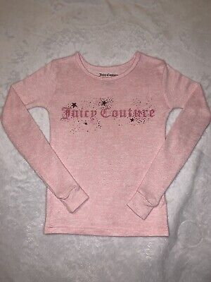 Juicy Couture Girl Pink Long Sleeve Shirt Size 6
