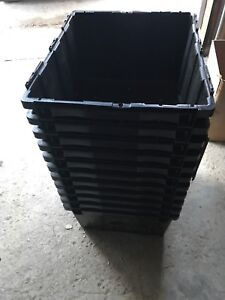 (10) heavy duty bins shipping containers boxes NO LIDS
