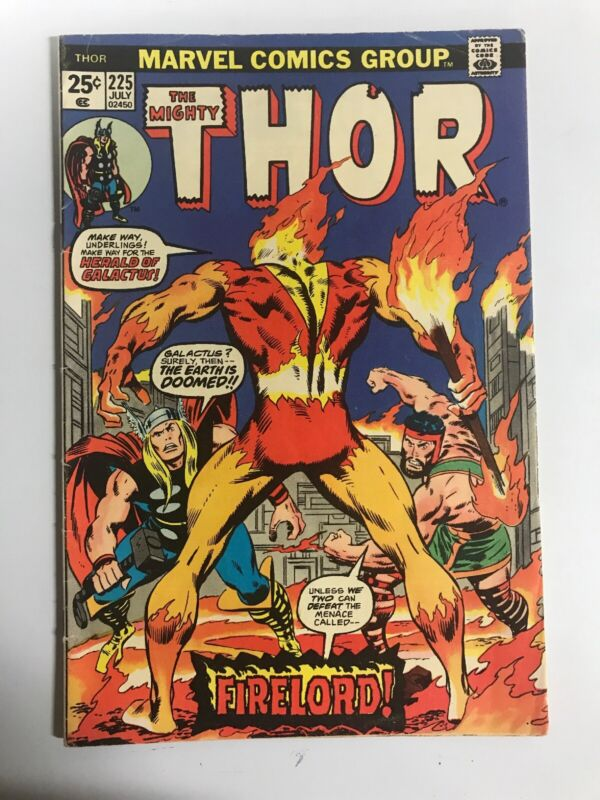 Marvel THOR #225 July 1974 1st Appearance of Firelord MVS INTACT