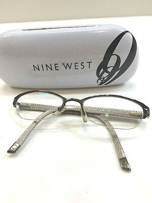 Nine West ATTITUDE OERA Pewter Half Rimless 52×18-140 Eyeglasses (Attitude Glasses Frames)