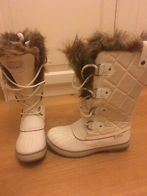 Boots Witerstiefel Schneestiefel Stiefel Weiss