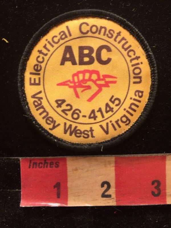 Vtg ABC ELECTRICAL CONSTRUCTION Varney West Virginia Advertising Patch 84J2