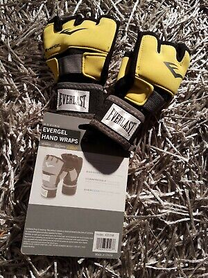 Everlast EverGel Glove Wraps - Boxing - Training - Yellow / Black Model 4355M