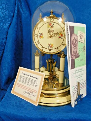 SCHATZ   ALL ORIGINAL 70 YEAR OLD 400 DAY GERMAN  ANNIVERSARY CLOCK NICE GIFT