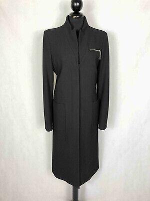 ARMANI JEANS Cappotto Donna Elegante Nero Lungo da Sera Woman Coat Sz.S - 42