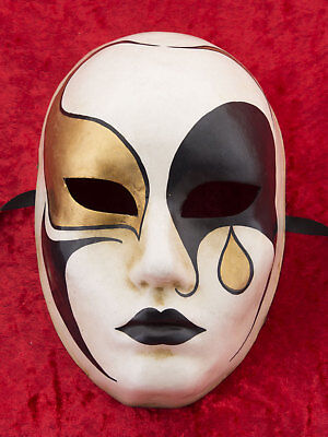 Mask from Venice Pierrot in Paper Mache - Craft Craft 2149 - V81