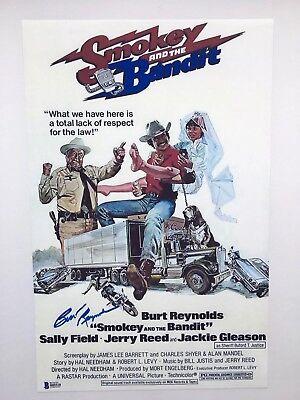 Burt Reynolds Reprint Autographed Smokey and the Bandit 11x17 Movie Poster