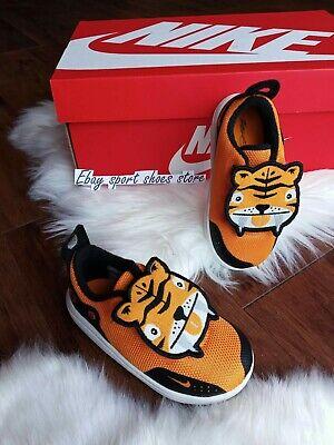 7C Nike KD11 LB TD XI Orange Peel Black Tiger Toddler Infant Baby - Toddler Tiger