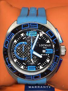Reloj-Locman-Mar-Chrono-Titanio-Caucho-Azul-47mm-Wr-Gran-descuento-Nuevo