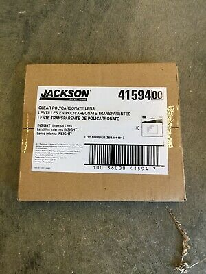 10 Jackson 2-916 X 4-18 W40 Insight Internal Safety Plate Lens Adf Helmet