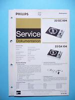 Servicio Manual De Instrucciones Para Philips 22gc 004,22 Ga 104 , Original - philips - ebay.es