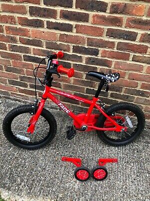 Apollo Fade Red Bike 16 inches with stabilisers