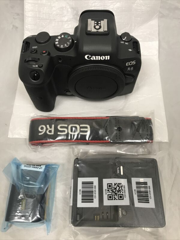 Canon EOS R6 20.1 MP Mirrorless Digital Camera - Body  Only