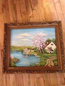 Lovely old oil painting.  Signed
