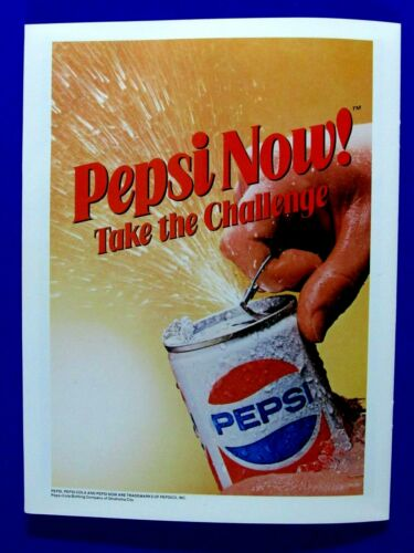 1983 Pepsi Cola  Take The Challenge Pepsi Now ! Original Print Ad-8.5 x 11""