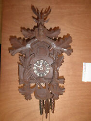 Cuckoo Clock Balck Forest German Hand Carved Hunter 1 Day CK1994
