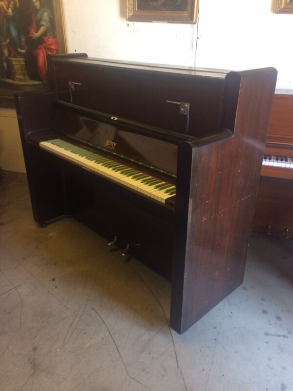 C1937 Art Deco Piano With Green Keys! Free Delivery In Essex.