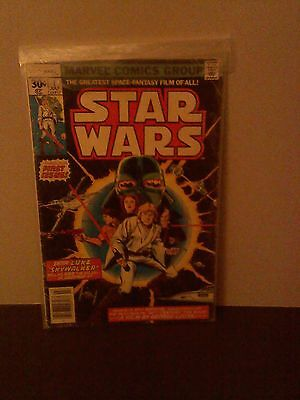 Star Wars 1 July 1977 Marvel First Print G to VG, Reprint