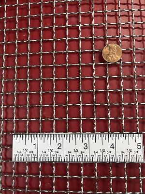 Woven 304 Stainless Mesh 2 Wire Diameter .063 Openings .437 12x24