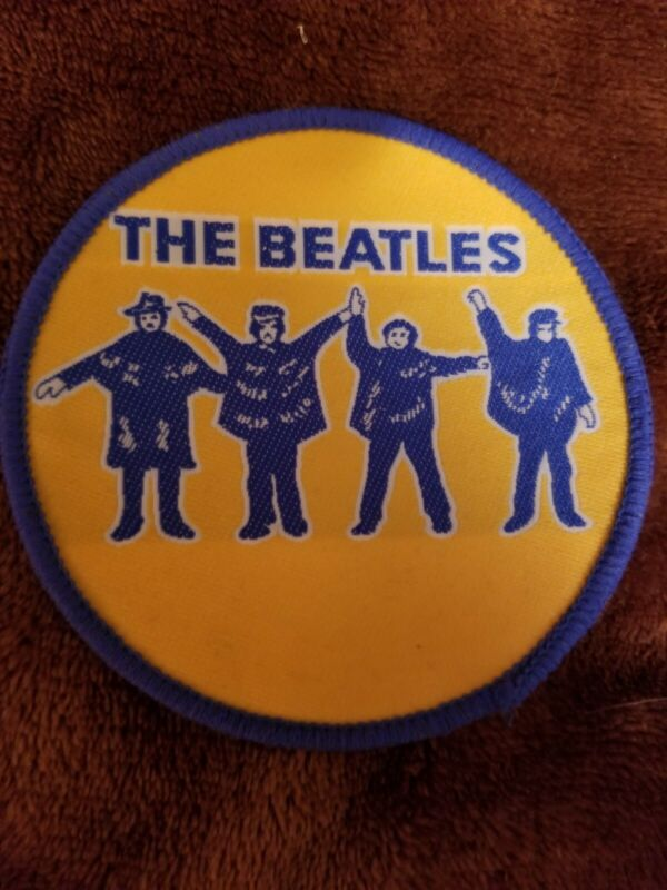 "Vintage Beatles  4"" round  sew-on Patch MINT"