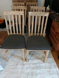 Dining Chairs, White Wash Oak, Six for free