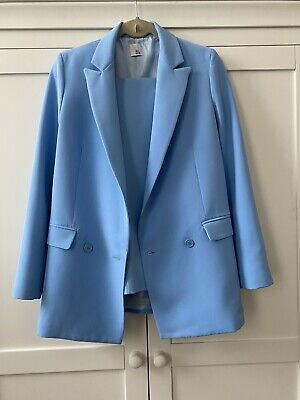 Iris and Ink blue Trouser Suit Jacket Size 8