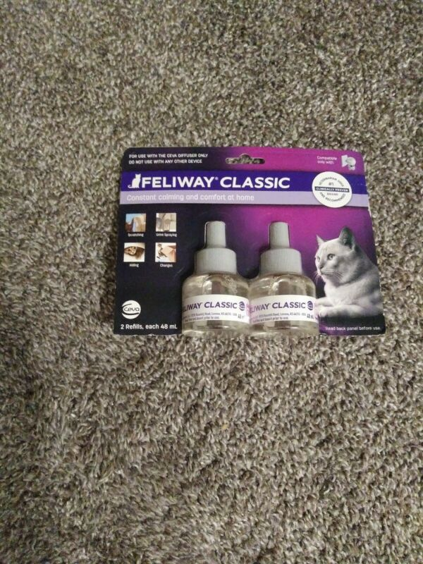 Feliway Classic Diffuser Refill for Cats 48 mL , Pack of 2 - exp 07/21