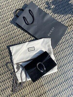 Gucci Dionysus Super Mini Suede Bag In Black