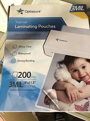 Thermal Laminating Pouches 3 Mil 200 Pack Clear Letter Size High Quality 9x11.5