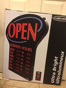OPEN Sign new in box