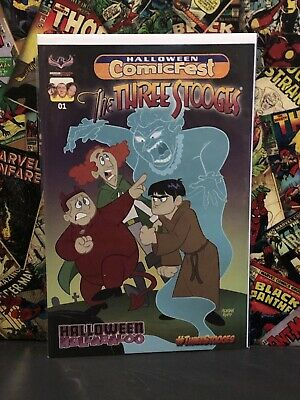The Three Stooges Halloween Hullabaloo Comicfest 2017 American Mythology NM