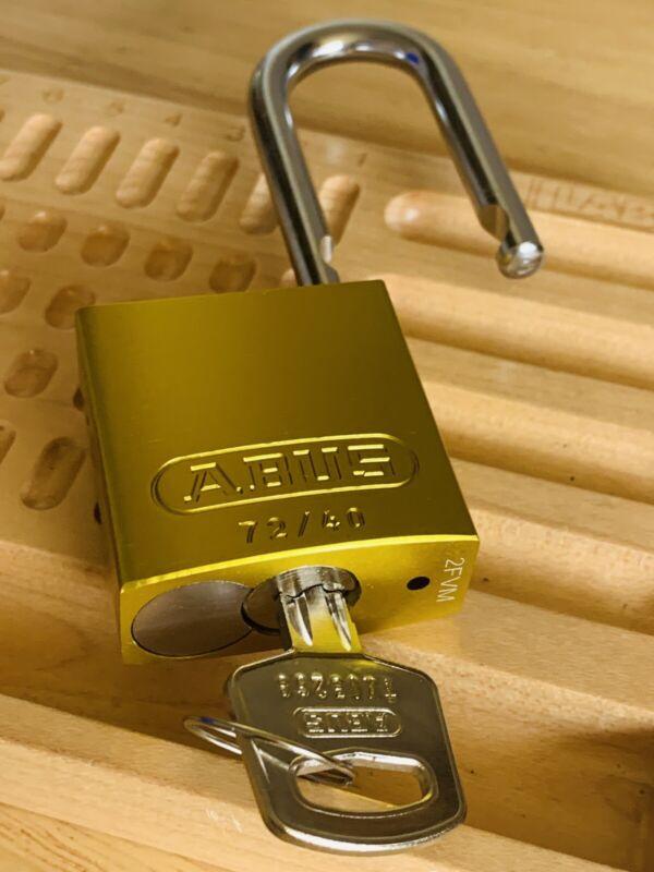 Abus Rekeyable 6-Pin Padlock w/ One Key Locksport Keyed Different Lock Security