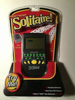 Solitaire  Electronic Travel Handheld Card Game Pocket Arcade Westminster ~ -