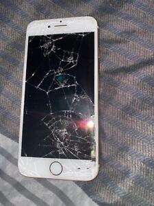Cracked iPhone 8 512gb