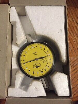 Mitutoyo 0-1mm Metric Balanced Dial Indicator 2109-11 Yellow Face Rare