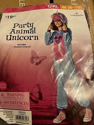 Halloween Costume Girl Party Animal Unicorn Medium 8-10 New