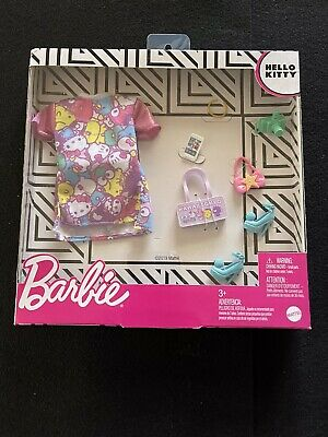 Barbie 2019 Hello Kitty Deluxe Fashion Pack- Dress Shoes & 5 Accessories New
