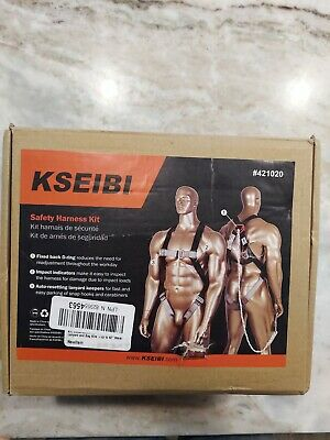Kseibi 421020 Safety Fall Protection Kit Full Body Harness Shock-absorbing