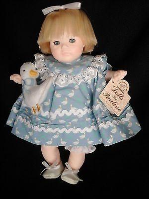 "Porcelain doll ""Beach Baby"" by Pauline Bjonness Jacobsen w/original box"