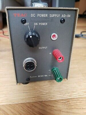 Teac Dc Power Supply Ad-94 Dc 120w 12v 10a Precision Regulated Power Supply