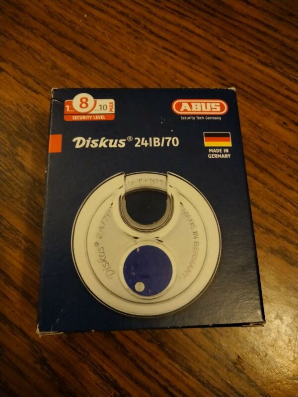 ABUS 24IB/70 Diskus Round Padlock - KEYED Different - Made in Germany